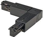L-verbinder 2 voor 3-fase rail zwart