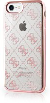 Guess TPU Transparant case 4G - goudroze - voor iPhone 7/8