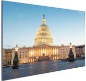 Capitool verlicht Washington DC Aluminium 60x40 cm - Foto print op Aluminium (metaal wanddecoratie)