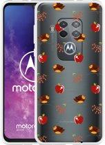 Motorola One Zoom Hoesje Apples and Birds
