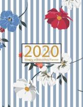 2020 Planner Weekly and Monthly: Jan 1, 2020 to Dec 31, 2020: Weekly & Monthly Planner + Calendar Views - Inspirational Quotes and Watercolor Floral D