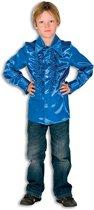 Rouches blouse kobalt voor jongens 140