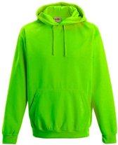 Electric hoodie, Kleur Electric Groen, Maat XL