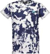 Blue Seven Jongens Shirt Blauw Wit - Maat 152