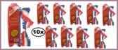 10x Crepe guirlande bedrukt rood/wit/blauw 24m brandveilig