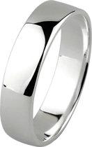 Dito relatiering - zilver - glanzend - vlak - 5 mm breed - maat 66