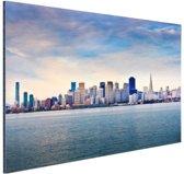 San Francisco skyline Aluminium 120x80 cm - Foto print op Aluminium (metaal wanddecoratie)