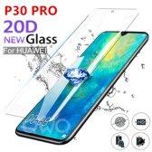 Huawei Gehard glas screen protector voor huawei P30 Pro volledige cover lijm en beschermfolie 9H volledige scherm bedekt explosieveilige gehard glas