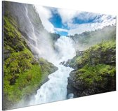 FotoCadeau.nl - Kjosfossen waterval foto Aluminium 30x20 cm - Foto print op Aluminium (metaal wanddecoratie)