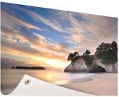 Cathedral Cove Nieuw-Zeeland  Tuinposter 200x100 cm - Tuindoek / Buitencanvas / Schilderijen voor buiten (tuin decoratie) XXL / Groot formaat! / Zee en Strand