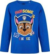 Paw Patrol T-shirt-met-lange-mouw-blauw - Maat 104
