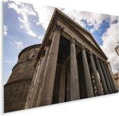 Ondersteunende pilaren aan de voorkant van het Pantheon in Rome Plexiglas 90x60 cm - Foto print op Glas (Plexiglas wanddecoratie)