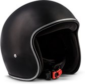 REBEL • MATT BLACK • L • Helm – Motor – Retro - Vespa - Scooter – Jet – Braincap – Motorhelm - Scooterhelm