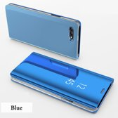 Clear View Stand Cover voor de Huawei Honor 10  _ Blauw