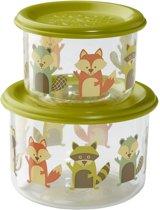 Snackdoosjes (set van 2) – What did the Fox eat