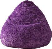 Lumaland - Luxe Fluffy zitzak - Stijlvol pluche zitkussen - Volume 120L - diverse kleuren - Lila