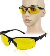 AA commerce - Stijlvolle Nachtbril -  Optimaal Nachtzicht Autorijden - Geel