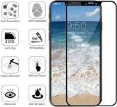 DrPhone iPhone X/XS Glas 4D Volledige Glazen Dekking Full coverage Curved Edge Frame Tempered glass Zwart - Official DrPhone Product + NL Handleiding