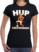 Nederland supporter t-shirt dameselftal Hup Leeuwinnen zwart dames - landen kleding L