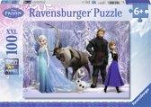 Ravensburger puzzel Disney Frozen. In het rijk de Sneeuwkoningin - Legpuzzel - 100 stukjes