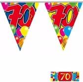 2x vlaggenlijn 70 jaar met gratis sticker