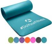 #DoYourFitness - fitness mat perfect voor pilates, aerobics, yoga - »Yogini« - non-slip, duurzaam, huidvriendelijk, slijtvast - 183 x 61 x 1,0cm cm - turquoise
