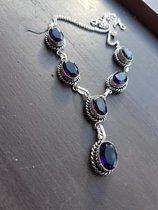 Amethist collier zilver