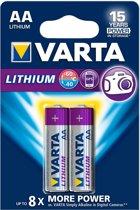 1x2 Varta Professional Lithium Mignon AA LR 6
