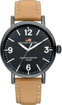 River Woods RW420037 Delaware horloge Heren - Bruin - Leer 42 mm