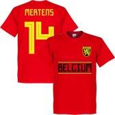 België Mertens 14 Team T-Shirt - Rood - XL