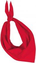 Zakdoek bandana rood