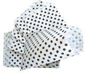 Papieren zakjes 17,5x25 cm wit met zwarte stip 50 stuks / cadeauzakjes