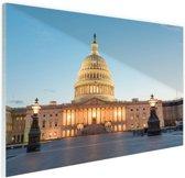 Capitool verlicht Washington DC Glas 60x40 cm - Foto print op Glas (Plexiglas wanddecoratie)