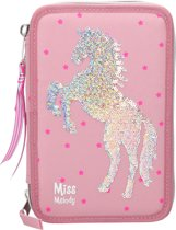 Miss Melody - Tripple Pencil case w/Sequince - Pink (0410004)