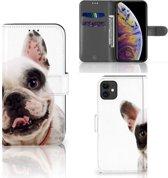 iPhone 11 Telefoonhoesje met Pasjes Franse Bulldog
