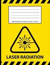 Laser Radiation Warning Periodic Table Chemistry Composition Notebook