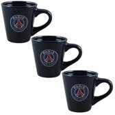 Paris Saint Germain 3 tassen set PSG Blauw