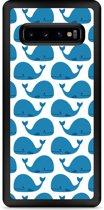 Galaxy S10 Plus Hardcase hoesje Whales