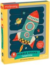 Mudpuppy Puzzle Sticks - Transportation - 24pcs