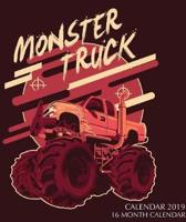 Monster Trucks Calendar 2019