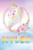 Kylee: Kylee's Unicorn Personal Custom Named Diary Planner Perpetual Calendar Notebook Journal 6x9 Personalized Customized Gi