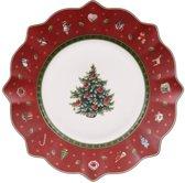 Villeroy & Boch Toy's Delight Ontbijtbord - 24 cm - Wit - Kerst