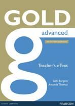 Gold Advanced eText Teacher CD-ROM