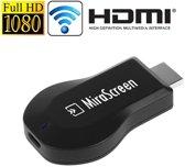 MiraScreen WiFi Display Dongle / Miracast Airplay DLNA weergave ontvanger Dongle (zwart)