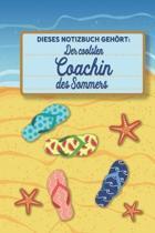 Dieses Notizbuch geh rt der coolsten Coachin des Sommers