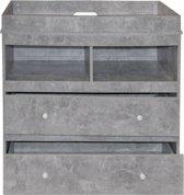 Commode ladekast babykamer Pukkie aankleedtafel grijs beton look