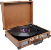 Soundmaster kofferplatenspeler PL580BR bruin - platenspeler