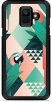 Galaxy A6 Hardcase Hoesje Exotic Trendy Parrots