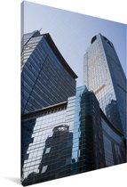 Hoge wolkenkrabbers in de Chinese stad Nanning Canvas 90x140 cm - Foto print op Canvas schilderij (Wanddecoratie woonkamer / slaapkamer) / Aziatische steden Canvas Schilderijen