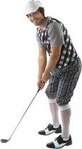 Golf kostuum zwart voor heren 48-50 (m) - Golfers verkleedkleding